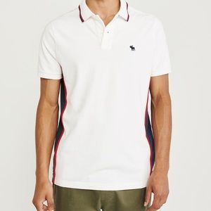 Mens Colorblock Stretch Icon Polo